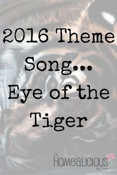 What is your 2016 theme song and why?  think about it and enjoy.... www.thehomealicious.com