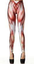 Red Muscle Print Elastic Leggings $33.87 WHAT these actually exist. Makes sense if someone is an anatomy/biology teacher...maybe