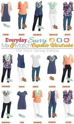 Kohl's Spring Capsule Wardrobe – Mix and Match Outfits | Everyday Savvy | Bloglovin'