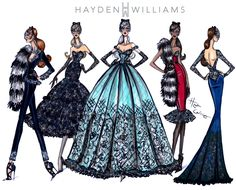 Hayden Williams Fashion Illustrations | Hayden Williams Haute Couture FW15 collection