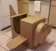 Cardboard box airplane