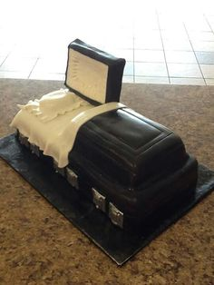 Omg really lol   Birthday cake for a mortician
