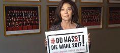 """Du hast die Wahl 2017: Stimme abgeben. Freiheit bewahren. - """"Also geh' wählen…!"""" - Aufruf von Iris Berben"""
