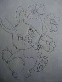 Art Drawings Sketches Simple, Pencil Art Drawings, Easy Drawings, Baby Embroidery, Hand Embroidery Designs, Embroidery Stitches, Colouring Pages, Coloring Books, Applique Patterns