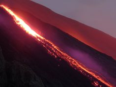 Volcano eruption, Stromboli, Aeolian Islands, Sicily, Italy
