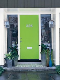 Front Door Color Idea: Lime Green.