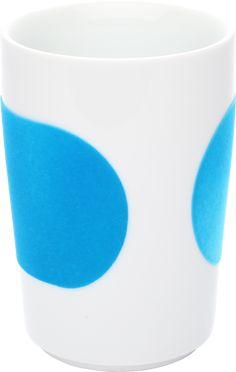 Five Senses touch! Maxi-Becher 0,35 l cyan - Design von Kahla, Kaffeebecher blau