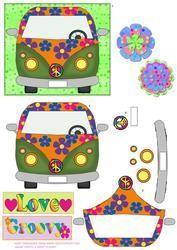 Flower Power Vw Van Topper 2