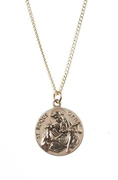 DiamondJewelryNY 14kt Gold Filled St Valentine of Rome Pendant