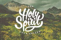 I like how the font just flows! Its got a really spirtual feeling to it, and the name is Holy Spirit! I found this online.#NSPIRATIONAL!