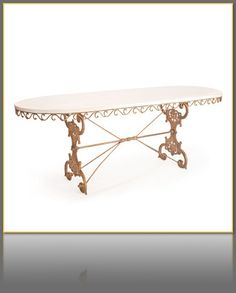 French Oval Garden Table