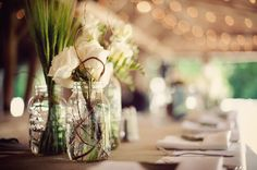 Cute mason jar centerpieces