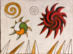 Andrzej Wróblewski - Niebo nad górami/ Sky over Mountains, 1948 Learning Process, Painting & Drawing, Rooster, Berlin, Sky, Abstract, Drawings, Illustration, Animals