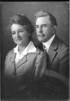 John Steven and Ida Lubrecht McGroarty, circa 1915. John Steven McGroarty was Poet Laureate of the State of California 1933-1934, and represented Los Angeles in the US House of Representatives from 1935 to 1939. He authored  the Mission Play, which romanticized McGroarty's former home in the Verdugo Hills. The McGroarty's Tujunga home now houses the McGroarty Arts Center, part of the City of Los Angeles Department of Recreation and Parks. San Fernando Valley History Digital Library.