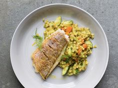 Israeli Cous Cous with Ras el Hanout, Fennel, and Carrot Recipe | Saveur Fennel Recipes, Carrot Recipes, Fish Recipes, Entree Recipes, Easter Recipes, Seafood Recipes, Kuku Sabzi, Lamb Stew, Middle Eastern Recipes