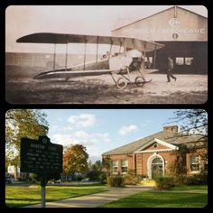 #FlashbackThursday: Did you know that Baldwin has played a major role in aviation history? In 1910, the first all- American Monoplane was built and flown right here in Baldwin. Albert and Arthur Heinrich ages 21 and 23 at the time, designed and built the plane using a barn on their father's farm on the north side of Seaman Avenue. — In Baldwin, NY.
