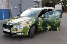 Skoda Camouflage #CarWrapping