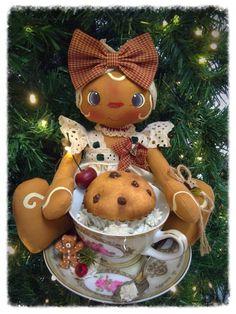 Cartamodello gingerina con muffin