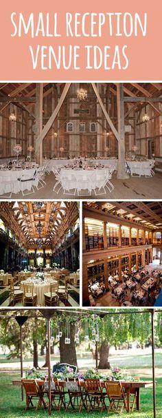 Small wedding reception venue ideas. #smallwedding