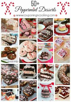 Start planning holiday treats wisely. Here are 50 peppermint desserts that look delicious!