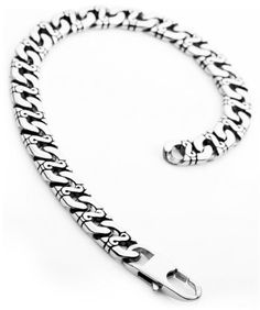 Justeel Jewelry Mens Silver 316l Stainless Steel Punk Vintage Chain Link Bracelet Wrist Band Justeel Jewelry. $14.99. Size HxWxL: x0.4x9.8inch; (x10x250mm). Shipping takes 2-3 weeks from China (USPS Tracking). Excellent Luster and Unimpeachable Rust and Corruption Resistance. 100% Nickel free