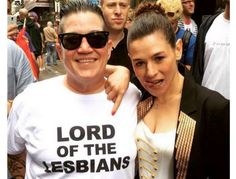 Lea DeLaria & Yael Stone from Celebs at Gay Pride The Orange is the New Black co-stars show off what they're working with in New York. Orange Is The New Black, Alex And Piper, Best Series, Gay Pride, Celebrity Crush, Strong Women, Actors, Celebrities, People