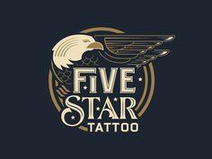 Dribbble - Five Star Tattoo by Bryan Patrick Todd