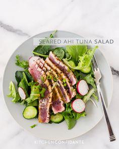 Seared Ahi Tuna Salad   www.kitchenconfidante.com
