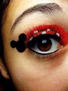 Trucco occhi ispirato a Minnie