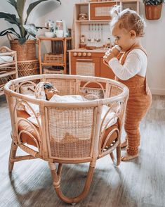 wohnen The baby obsession still going strong . She takes such good care of all 7 of them, I think Baby Bedroom, Nursery Room, Girls Bedroom, Nursery Decor, Boho Nursery, Kids Play Area, Kids Room, Sala Vintage, Toy Rooms