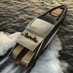 Lamborghini Motoryacht by Mauro Lecchi and Fenice Milano. and powered by a pair of Motori Marini Lamborghini or alternatively two Volvo Penta IPS 900 diesel engines Luxury Sports Cars, Sports Nautiques, Sport Cars, Vs Sport, Yacht Design, Boat Design, Ferrari, Lamborghini Concept, Lamborghini Cars