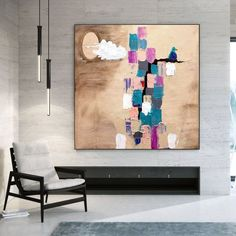Extra Large Paintings On Canvas-Original Abstract Painting image 0 Large Abstract Wall Art, Large Painting, Canvas Wall Art, Texture Art, Texture Painting, Original Paintings, Abstract Paintings, Colorful Artwork, Extra Large Wall Art