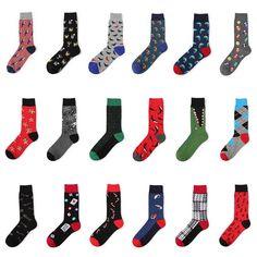New Arrived Men Happy Socks Colorful Novelty Funny Socks Cotton Autumn Winter Stripe Socks Dress Gentlemen Crew Socks Men To Reduce Body Weight And Prolong Life Underwear & Sleepwears
