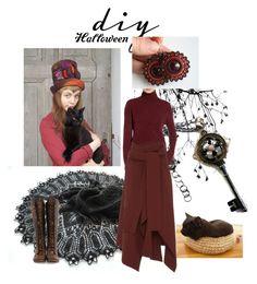 """Diy Costume handmade"" by landoflaces on Polyvore featuring moda, John Fluevog, BP., Marni, handmade, halloweencostume, DIYHalloween i poletsy"