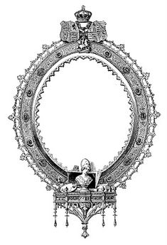 Antique Clip Art – Ornate Engraved Frame