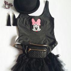 Minnie denim corset