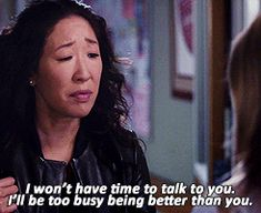 We fell in love with Dr. Christina Yang…when she showed us how to respond to life's haters