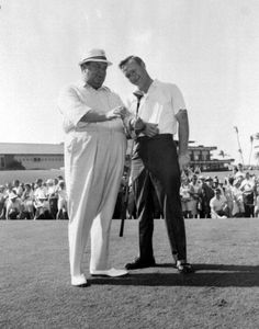 Jackie Gleason and Arnold Palmer on the course. (1960s) | Florida Memory