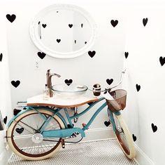 Decoração lavabo bike