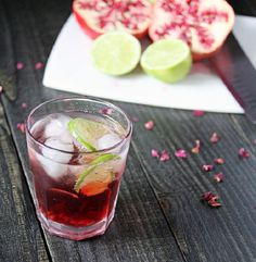 Pomegranate Rosewater Spritzers? Yes, please!