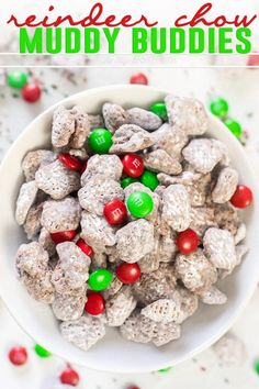 Reindeer Chow AKA Muddy Buddies with a Holiday twist! Holiday Snacks, Christmas Snacks, Holiday Recipes, Christmas Recipes, Christmas Parties, Christmas Goodies, Christmas Ideas, Xmas, Christmas Brunch
