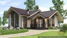 Проект небольшой бани. Фото экстерьера Cottage Plan, Good House, Plan Design, House Front, Design Case, Home Fashion, My Dream Home, Exterior Design, Gazebo