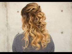 Bridal Half Down Wavy Hairstyle - YouTube
