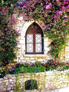   ♕   Romanesque window in Eze   by © CHRIS230