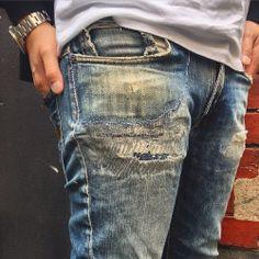 Monday denim repair inspo #mondayrepairday #reoaitinspo #deniminspo #pocketrepair #faded #ripped #broken #repairitwithpride #denimlyf #bluejeans #indigo #vintage #nudiejeans #denimhead #denimlyf #dnmhdsrepairshop #deanimhead #dnmhds