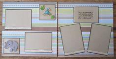12 x 12 Premade Scrapbook Page Baby Boy 2 by IslandLillyDesigns