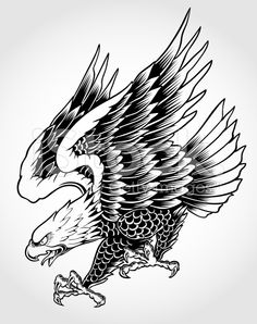 diving eagle tattoo - Google Search