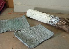 "How to make a ""tree bark tool"" for tufa. TheGardenArtForum.Com"