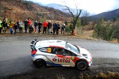 Robert Kubica of Poland and Maciej Szczepaniak of Poland compete in their RK M-Sport World Rally Team Ford Fiesta RS WRC during Day Two of t...