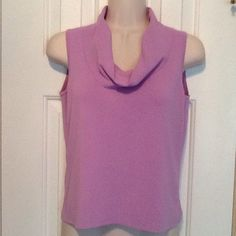 Lavender cowl neck sleeveless top Gently used - in good condition except small snag on back - no tags Tops